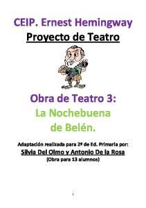 CEIP. Ernest Hemingway Proyecto de Teatro