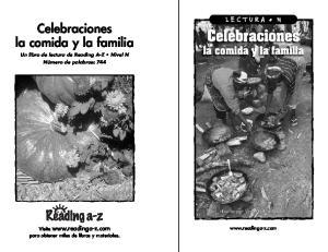 Celebraciones la comida y la familia