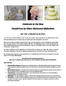 Celebrate at the New DoubleTree by Hilton Richmond-Midlothian
