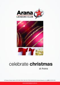 celebrate christmas at Arana