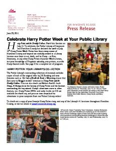 Celebrate Harry Potter Week at Your Public Library