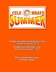 Celebrate Summer Futures Sale