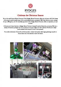 Celebrate the Christmas Season