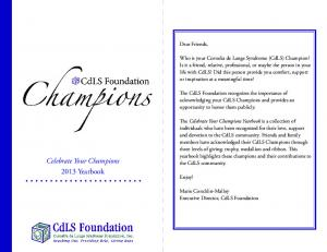 Celebrate Your Champions 2013 Yearbook