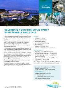 CELEBRATE YOUR CHRISTMAS PARTY WITH SPARKLE AND STYLE