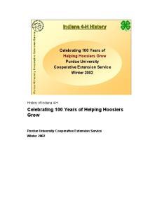 Celebrating 100 Years of Helping Hoosiers Grow