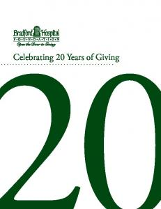 Celebrating 20 Years of Giving