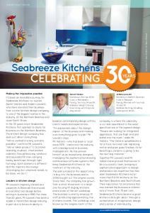 CeLebrAting. Seabreeze Kitchens. years