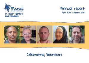 Celebrating Volunteers. Annual report April March 2015