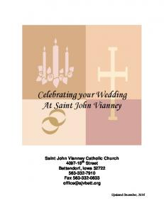 Celebrating your Wedding At Saint John Vianney