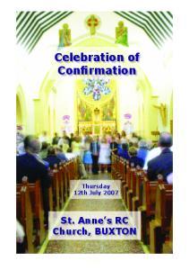 Celebration of Confirmation