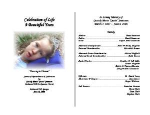 Celebration of Life 9 Beautiful Years