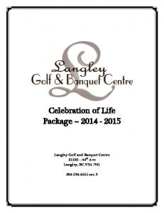 Celebration of Life Package ~