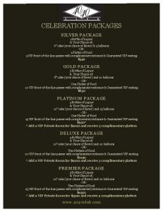 CELEBRATION PACKAGES