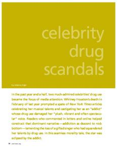 celebrity drug scandals