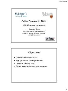 Celiac Disease in 2014