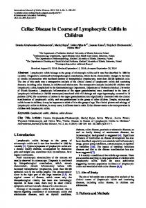 Celiac Disease in Course of Lymphocytic Colitis in Children
