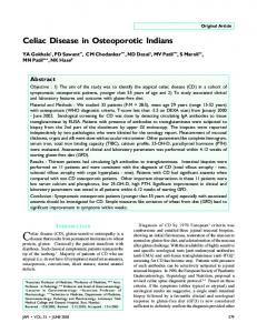 Celiac Disease in Osteoporotic Indians