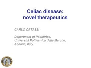 Celiac disease: novel therapeutics