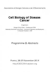 Cell Biology of Disease: Cancer