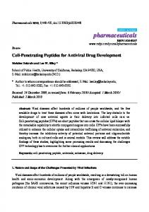 Cell-Penetrating Peptides for Antiviral Drug Development