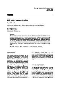 Cell wall-cytoplasm signalling