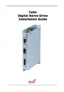 Cello Digital Servo Drive Installation Guide