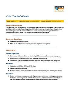 Cells: Teacher s Guide