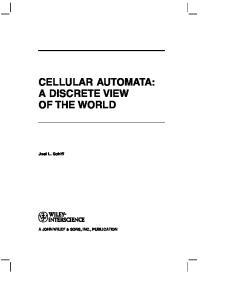 CELLULAR AUTOMATA: A DISCRETE VIEW OF THE WORLD
