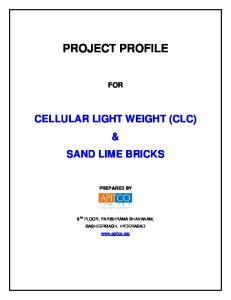 CELLULAR LIGHT WEIGHT (CLC) & SAND LIME BRICKS