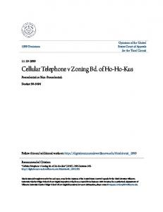 Cellular Telephone v Zoning Bd. of Ho-Ho-Kus