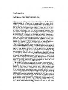 Cellulose and the human gut