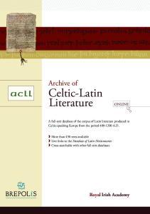 Celtic-Latin Literature