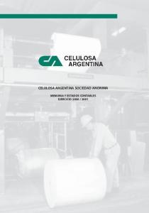 CELULOSA ARGENTINA SOCIEDAD ANONIMA