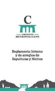 CEMENTERIO METROPOLITANO REGLAMENTO INTERNO