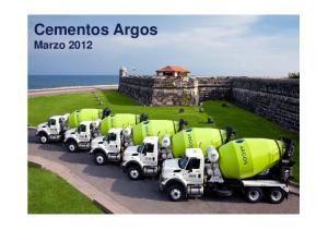 Cementos Argos Marzo 2012