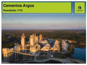 Cementos Argos. Resultados 1T16. Planta Newberry