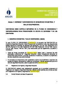 CEMENTOS ARGOS S.A. COMPRAS S&SO