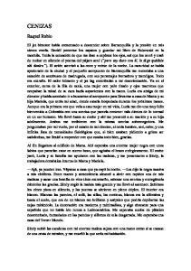 CENIZAS. Raquel Rubio