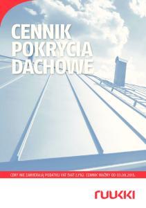 CENNIK POKRYCIA DACHOWE