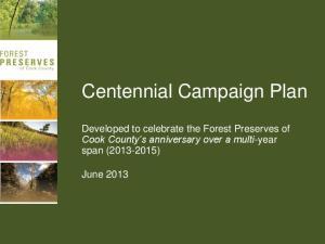 Centennial Campaign Plan