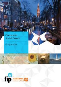Centennial Social Events. Programme