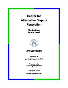Center for Alternative Dispute Resolution