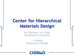 Center for Hierarchical Materials Design