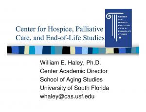 Center for Hospice, Palliative Care, and End-of-Life Studies