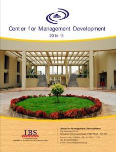 Center for Management Development