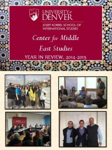 Center for Middle East Studies YEAR IN REVIEW,
