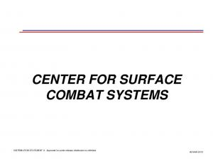 CENTER FOR SURFACE COMBAT SYSTEMS
