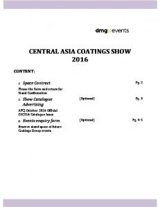 CENTRAL ASIA COATINGS SHOW 2016