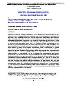 CENTRAL BANK BALANCE SHEETS: